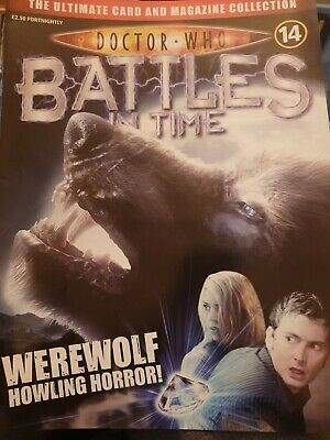 DOCTOR WHO 'BATTLES IN TIME' MAGAZINE NO. 14 werewolf howling horror.