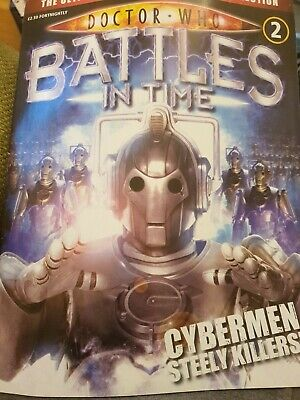 Doctor Who 'Battles In Time' Magazine No. 2 Cybermen Steely Killers