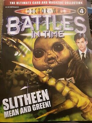 Doctor Who 'Battles In Time' Magazine No. 4 Slitheen Mean And Green
