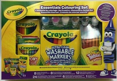 Crayola  Essentials Colouring Set Paint Crayons Great For Home And School