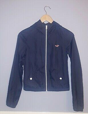 Hollister Raincoat Age 10 Navy Blue