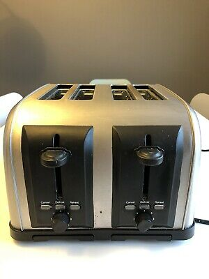 Four Slice Toaster -Silver - Great Condition
