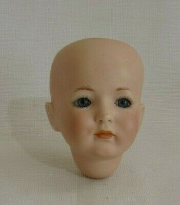 VINTAGE PORCELAIN DOLL HEAD with GLASS EYES MADE in GERMANY 1994 208