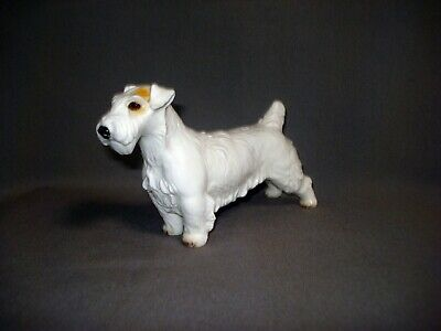 RAR! Nymphenburg Porzellan Figur 'Sealyham Terrier', um 1929, signiert