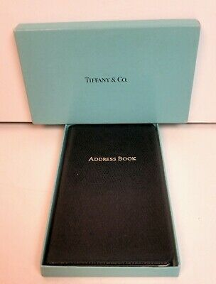 "Tiffany & Co Starwood Leather Address Book 5"" × 3"" Nib"
