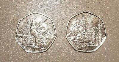 Rare Paddington Bear 50p coins - Tower of London AND St Paul's Cathedral