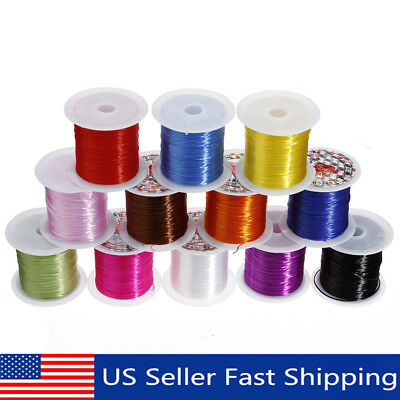 10M Strong Elastic Stretchy Beading Thread Cord Bracelet String Jewelry Making !