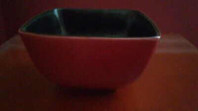"""HOME TRENDS  Rave Taupe 5.5/"""" Square SOUP BOWL"""