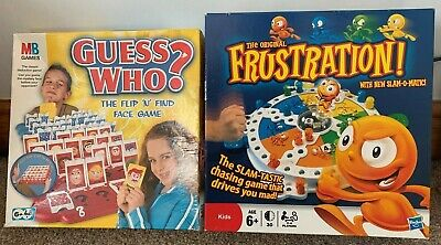 Bundle Of 2x Children's Board Games - MB Guess Who? & Hasbro Frustration