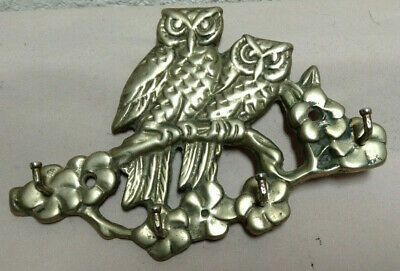 Owl Key Rack Solid Brass Wall Hanging Hooks
