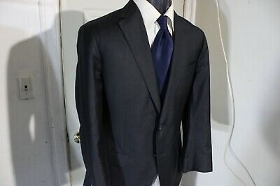 Phineas Cole Wool-Cashmere Size 40 Short Dark Gray 2 Button Sportcoat