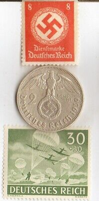 """#-10-F)-*free WW2- *german"""" PW""""-Solder card in FRANCE camp+""""PARATROOPERS"""" -stamp"""