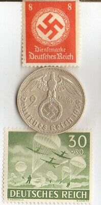 """#-11-F)-*free WW2- *german"""" PW""""-Solder card in FRANCE camp+""""PARATROOPERS"""" -stamp"""