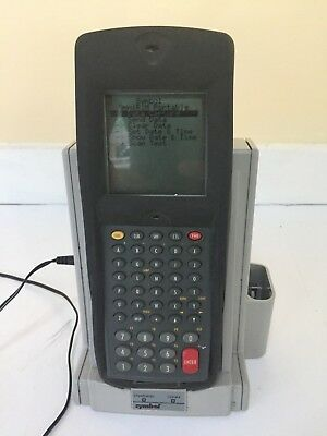 Symbol N410 Barcode Scanner with Charger Power Cord Handheld WORKS!