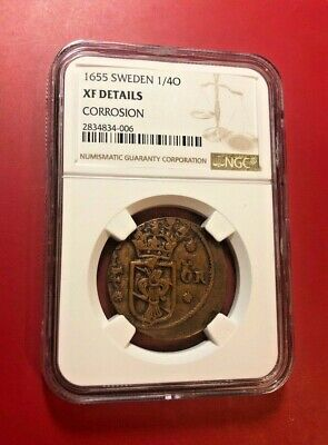 1655 Sweden 1/4 O Ngc Xf Details Corrosion