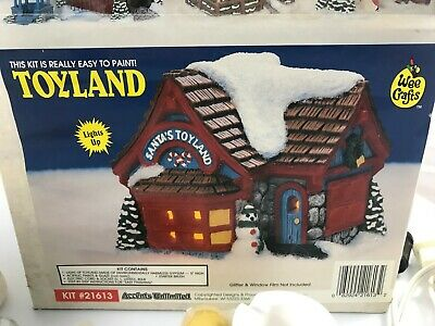 ACCENTS UNLIMITED WEE CRAFTS Christmas Village LIGHTED TOYLAND #21613 - STARTED!
