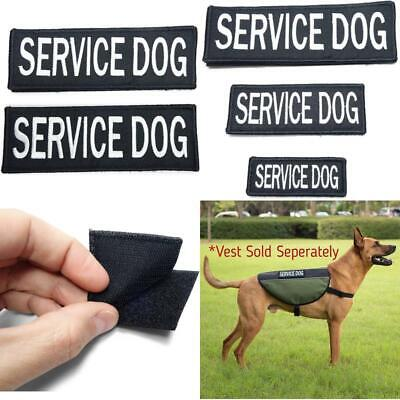 Leash Boss Service Dog Vest Patches - Embroidered 2 Pack - Hook And Loop Both Si
