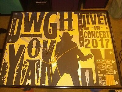 Dwight Yoakam signed VIP Concert Poster With Lanyard and guitar picks