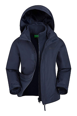 Mountain Warehouse Fell Kids 3 in 1 Jacket - Water Resistant Triclimate Rain for