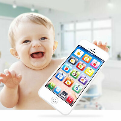 Kids Music Toy Cell Phone   Educational Learning Touch Screen Child Gift White