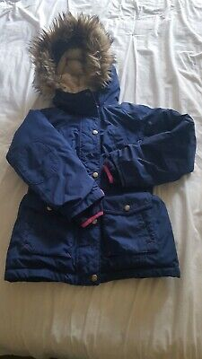 Lands End Girls Coat Age 7 8 Very Warm School Ski Style Coat in Navy