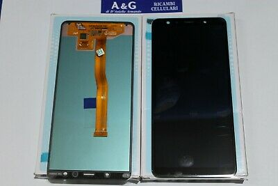DISPLAY ORIGINALE LCD + TOUCH SAMSUNG Galaxy A7 A750F nero A7 2018