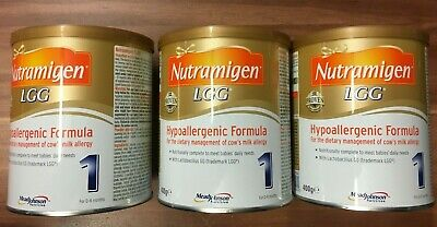 Nutramigen 1 with LGG - 3 x 400g tins - expiry : 11.07.2021 brand new