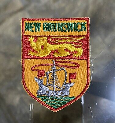 Vintage 'NEW Brunswick CANADA' Souvenir SEW On Embroidered PATCH Cloth BADGE