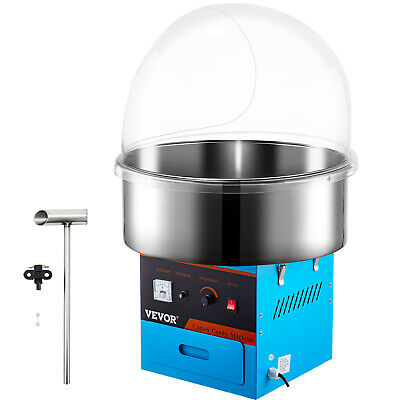 Commercial Cotton Candy Machine Sugar Floss Maker Carnival Electric W/Cover