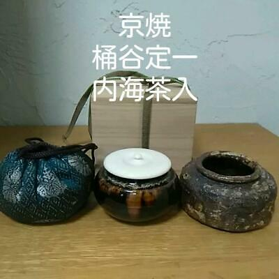 Tea Caddy Ceremony Chaire Kyo-ware Sado Japanese Traditional Crafts t714
