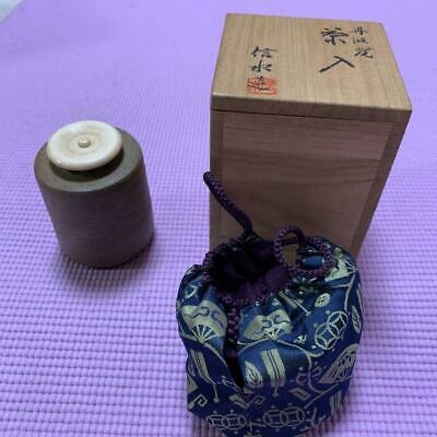 Tea Caddy Ceremony Chaire Tanba-ware Sado Japanese Traditional Crafts t727