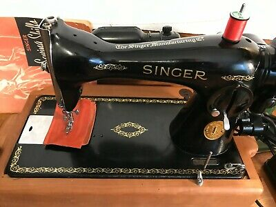 1950 Industrial Direct Drive Singer 15-91 Sewing Machine Cherry Base Rewired