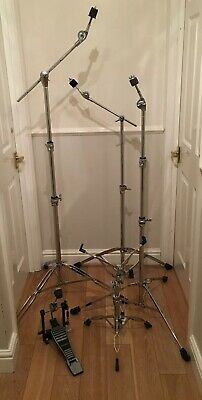 Heavy Drum Hardware Set Boom Stands X 2, Straight,Snare, Pedal,Stool & Hi Hat