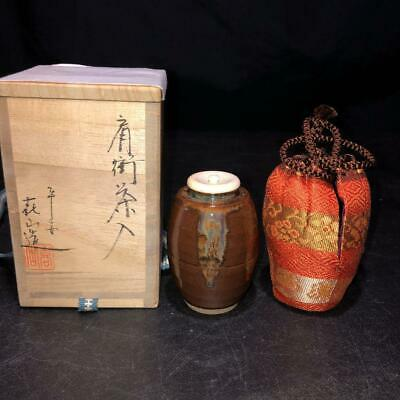 Tea Caddy Ceremony Chaire Sado Japanese Traditional Crafts t746