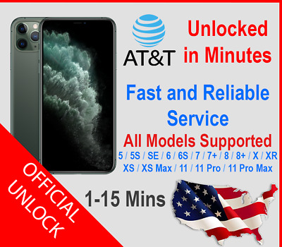 Premium FACTORY UNLOCK SERVICE AT&T CODE for iPhone 5/6/7/8/SE/X/XR/XS/XS Max