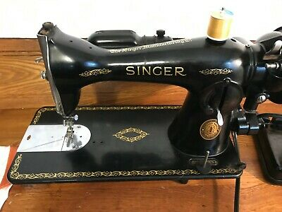 1952 Industrial Direct Drive Singer 15-91 Sewing Machine with Attachments