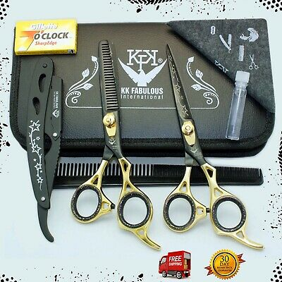 Professional Barber Hair Cutting Thinning Scissors Shears Hairdressing Set 6.5''