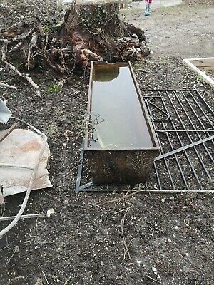 Large Antique Rustic Cast Iron Trough / Planter