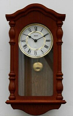 Vintage 47cm Silvoz Wooden Wall Clock - Chiming Retro Country Long Antique Gift