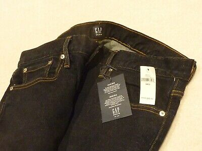 """Men's GAP Resin Rinse Indigo Straight Leg Slim Fit Jeans W34"""" L32"""" NEW WITH TAGS"""