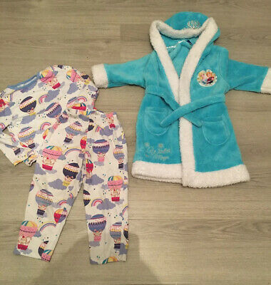 Girl's Pyjamas And Frozen Dressing Gown elsa & Anna 3-4 Years