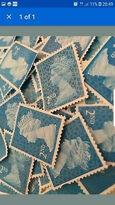 2nd Class Security Stamps Unfranked Off Paper No Gum X 500