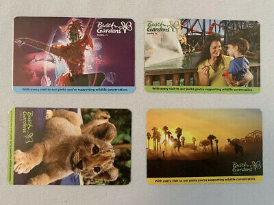 4 Pack Single Day Tickets Busch gardens Tampa FL Expires APRIL 19, 2020