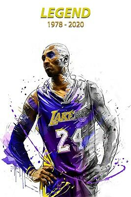 Kobe Bryant Legend Lakers NBA Basketball High Quality poster Choose your Size