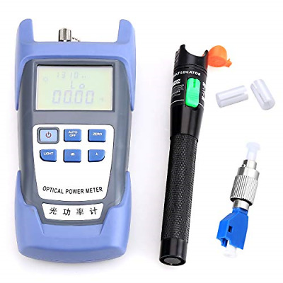 Fiber Optical Power Meter with 30mW 30KM Aluminum Visual Fault Locator FC-LC for