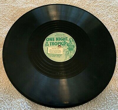 One Night in the Tropics - Preview Recording - 78 rpm record 1940