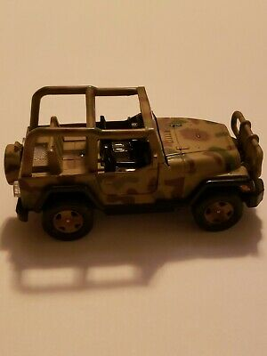 Army Military Jeep 1:32 Diecast Metal Model Car Camouflage Toy