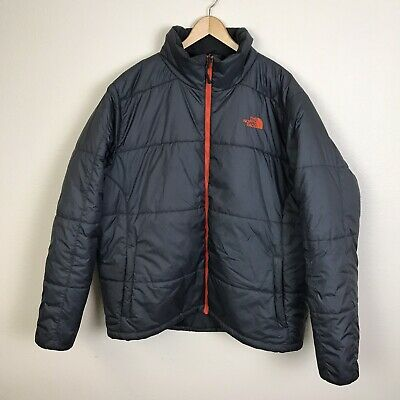 The North Face Synthetic Insulated Mid weight Quilted Jacket Charcoal Gray XL