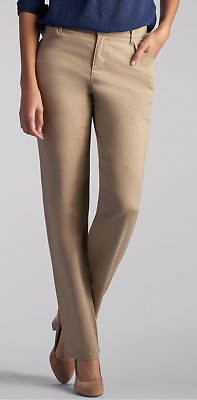Lee Relaxed Fit Straight Leg All Day Pants - 4 Short Flax Khaki