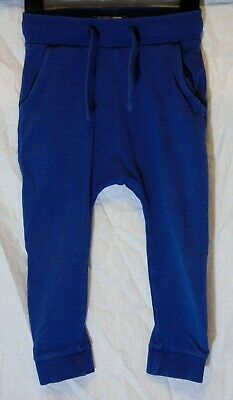 Boys Next Mid Blue Drawstring Comfy Casual Cuffed Joggers Age 2-3 Years